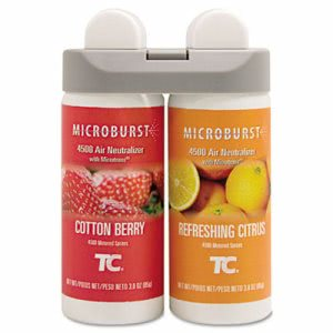 Rubbermaid 3485952 Microburst Duet, Cotton Berry/Citrus, 4 Refills (RCP3485952)