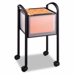 Safco Impromptu Open File Cart, 20-1/4 x 19 x 29-3/4, Black (SAF5375BL)