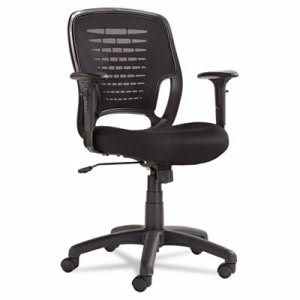 Oif Swivel/Tilt Mesh Task Chair, Black Arms/Base, Black (OIFEM4817)
