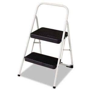 Cosco 2-Step All Steel Folding Step Stool, Gray, Each (CSC11135CLGG1)