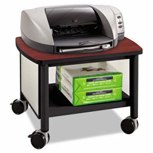 Safco Impromptu Under Table Printer Stand, Black/Cherry (SAF1862BL)