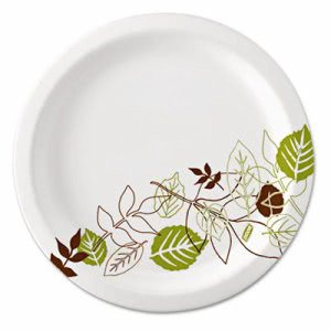 "Dixie Pathways 8-1/2"" Paper Plates, Mediumweight, 500 Plates (DXEUX9WS)"