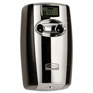 Rubbermaid 4870055 Microburst Duet Dispenser, Black/Chrome (RCP4870055)