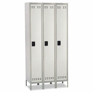 Safco Single Tier, 3-Column Locker, 36w x 18d x 78h, Two-Tone Gray (SAF5525GR)