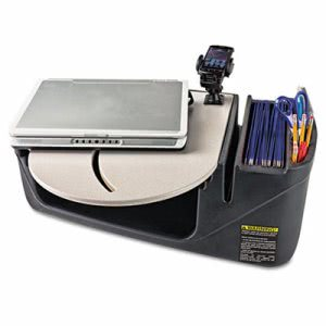 Autoexec Car Desk with Laptop Mount, Supply Organizer, Gray (AUE39000)