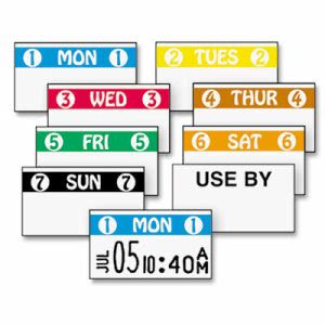 Monarch FreshMarx Color Coded Labels, Monday, White, 2500 Labels (MNK925204)