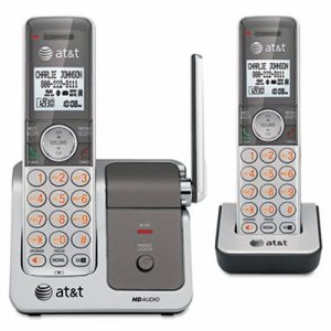 At&t CL81201 DECT 6.0 Cordless Phone System, 2 Handsets (ATTCL81201)