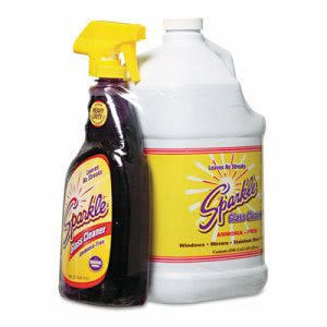 Sparkle Glass Cleaner, One Trigger Bottle & One Gallon Refill (FUN20515)