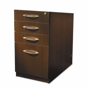 Mayline Aberdeen Series Pencil/Box Laminate Desk Pedestal, Mocha (MLNAPBBF26LDC)