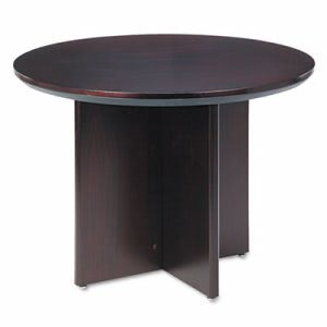 Mayline Corsica Conference Series Table, 42 dia. x 29½h, Mahogany (MLNCTRNDMAH)