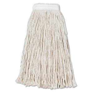 Boardwalk Cut-End Wet Mop Head, Cotton, #16, White, 12/Carton (BWK2016CCT)