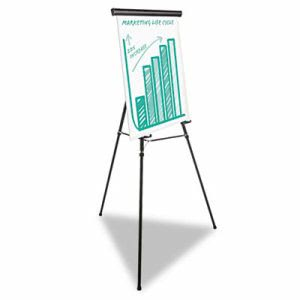 "Universal Heavy Duty Presentation Easel, 69"" Max Height, Metal, Blk (UNV43034)"