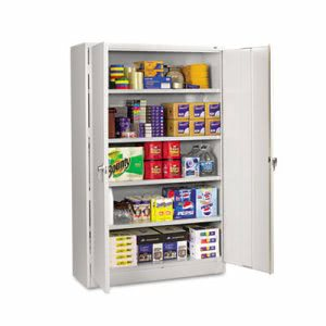 Tennsco Assembled Jumbo Steel Storage Cabinet, 48w x 18d x 78h, Light Gray (TNNJ1878SULGY)