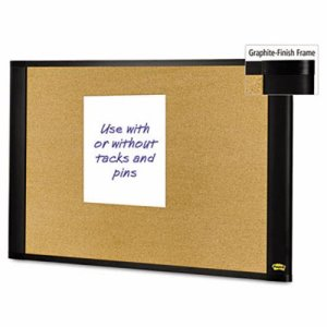 Post-it Sticky Cork Board, 36x24, Frame Color Graphite (MMMA3624G)