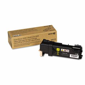 Xerox 106R01596 High-Capacity Toner, 2,500 Page-Yield, Yellow (XER106R01596)