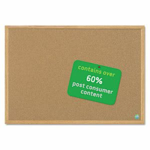 Mastervision Earth Cork Board, 36 x 48, Wood Frame (BVCSB0720001233)