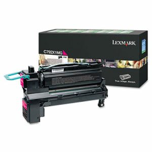 Lexmark Extra High-Yield Toner, 20,000 Page-Yield, Magenta (LEXC792X1MG)