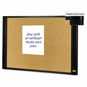 Post-it Sticky Cork Board, 48x36, Frame Color Graphite (MMMA4836G)