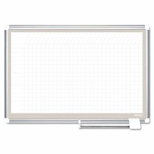 All Purpose Porcelain Planner Dry Erase Board, 36x24, Aluminum (BVCCR0632830A)