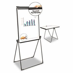 "Universal Foldable Double Sided Whiteboard Easel, 28.5"" x 37.5"" (UNV43030)"