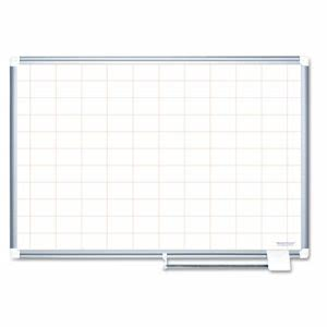 Mastervision MasterVision Grid Planning Board, 2x3 Grid, 72x48, White/Silver (BVCMA2793830)