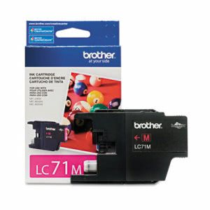 Brother LC71M (LC-71M) Ink, 300 Page-Yield, Magenta (BRTLC71M)