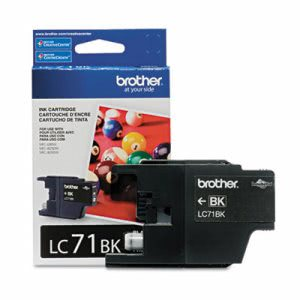 Brother LC71BK (LC-71BK) Ink, 300 Page-Yield, Black (BRTLC71BK)