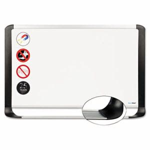 Mastervision MasterVision Porcelain Magnetic Dry Erase Board, 48x96, White/Silver (BVCMVI210401)