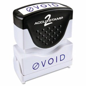 "Accustamp2 Shutter ""Void"" Message Stamp with Microban, Blue (COS035584)"