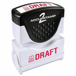 "Accustamp2 ""Draft"" Message Shutter Stamp with Microban, Red (COS035585)"