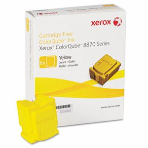 Xerox 108R00952 Solid Ink Stick, 17,300 Page-Yield, Yellow, 6/Box (XER108R00952)