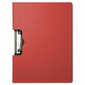 "Baumgartens Portfolio Clipboard With Low-Profile Clip, 1/2"" Capacity, 11 x 8 1/2, Red (BAU61642)"