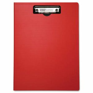 Portfolio Clipboard With Low-Profile Clip, 8 1/2 x 11, Red (BAU61632)