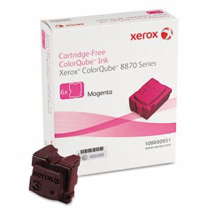 Xerox 108R00951 Solid Ink Stick, 17,300 Yield, Magenta, 6/Pack (XER108R00951)