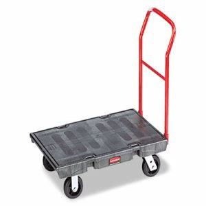 Rubbermaid 443600 HD Platform Truck, 1000-lb. Capacity, Black (RCP443600BK)