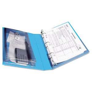 "Avery View Mini Binder, Round Ring, 5-1/2 x 8-1/2, 1"" Capacity, Blue (AVE23014)"