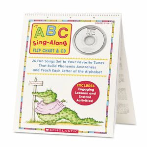 Scholastic ABC Singalong Flip Chart, 26 pages, CD (SHSSC978439)