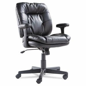 OIF Swivel & Tilt Leather Task Chair, Black, 1 Each (OIFST4819)