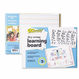 "Pacon Dry Erase Learning Whiteboards, 8 1/4"" x 11"", 5 Boards (PACLB8511)"