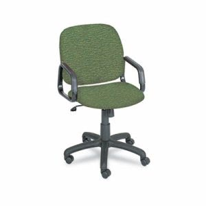 Safco Cava Urth Collection High Back Swivel/Tilt Chair, Green (SAF7045GN)
