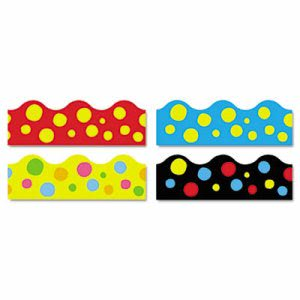 Trend Terrific Trimmers Border, Lotsa Spots, Assorted, 48 Borders (TEPT92912)