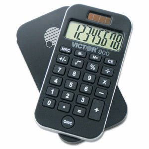Victor 900 AntiMicrobial Pocket Calculator, 8-Digit LCD (VCT900)