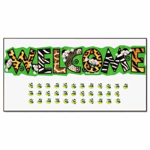 Trend Monkey Mischief Welcome Bulletin Board Set, 81w x 18h (TEPT8219)