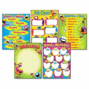 Trend Learning Chart Combo Pack, Frog-tastic! 17w x 22, 5/Pack (TEPT38970)