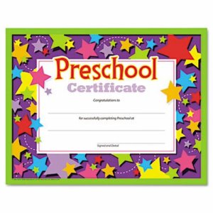 Trend Colorful Certificates, Preschool, 8-1/2 x 11, 30 Certificates (TEPT17006)