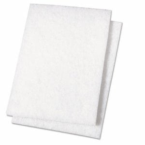 Boardwalk Light Duty Scour Pad, White, 6 x 9, 20 Pads (BWK198)