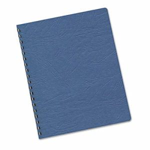 Fellowes Classic Grain Texture Binding System Covers, Navy, 200/Pack (FEL52136)