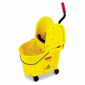 Rubbermaid 757788 WaveBrake 35 Quart Mop Bucket/Wringer, Yellow (RCP757788YW)
