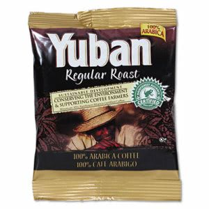 Yuban Regular Roast Coffee, 1 1/2 oz Packs, 42/Carton (YUB866550)