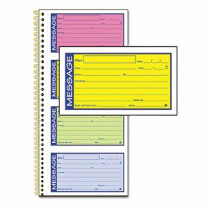 Adams Telephone Message Book, Two-Part Carbonless, 200 Forms (ABFSC1153RB)